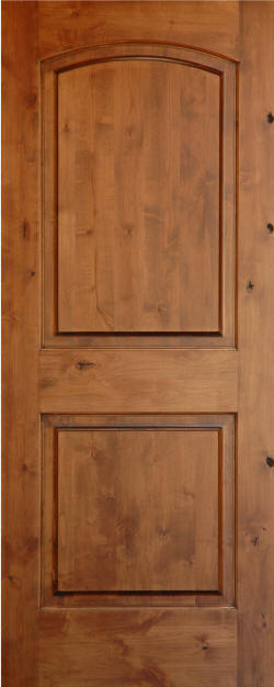 Knotty Alder Arch 2 Panel Wood Interior Doors Homestead