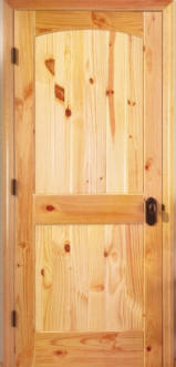 Knotty Pine Arch 2 Panel Doors With V Grooves Homestead