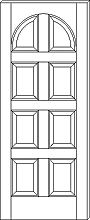 RP-8010 8-Panel Round Top Door