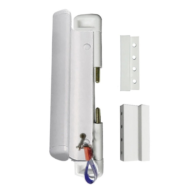 cal slide lok locking white patio door lock with handle