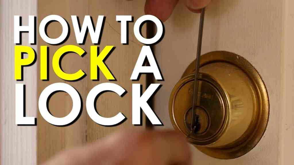 how to pick a bedroom door lock