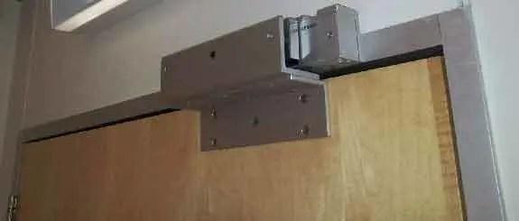 magnetic lock on a door