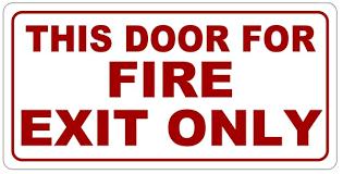 Fire Exit Doors Repair
