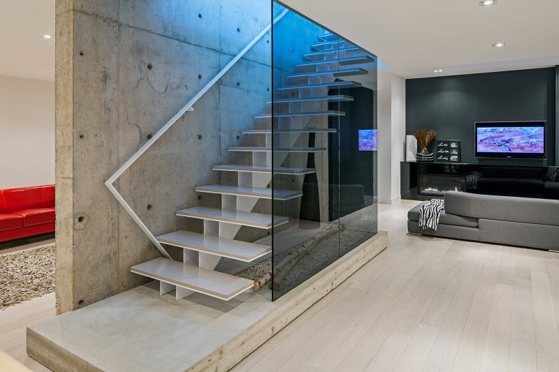 11 Beautiful Basement Staircase Ideas You Ll Love Doorways Magazine | Glass Staircase Near Me | Baluster | Spiral Staircase Design | Stair Treads | Frameless Glass | Staircase Railings