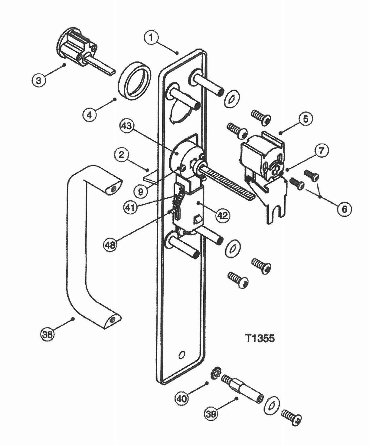 Yale Panic Bar Parts Diagram Pictures To Pin