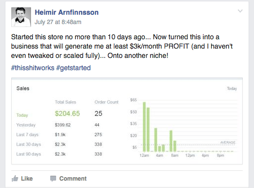 $3k Per Month Profit After 10 Days