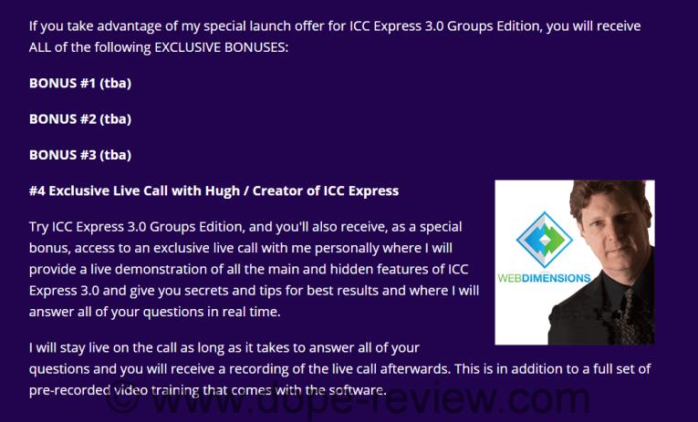 ICC Express 3.0 Groups Edition Bonus