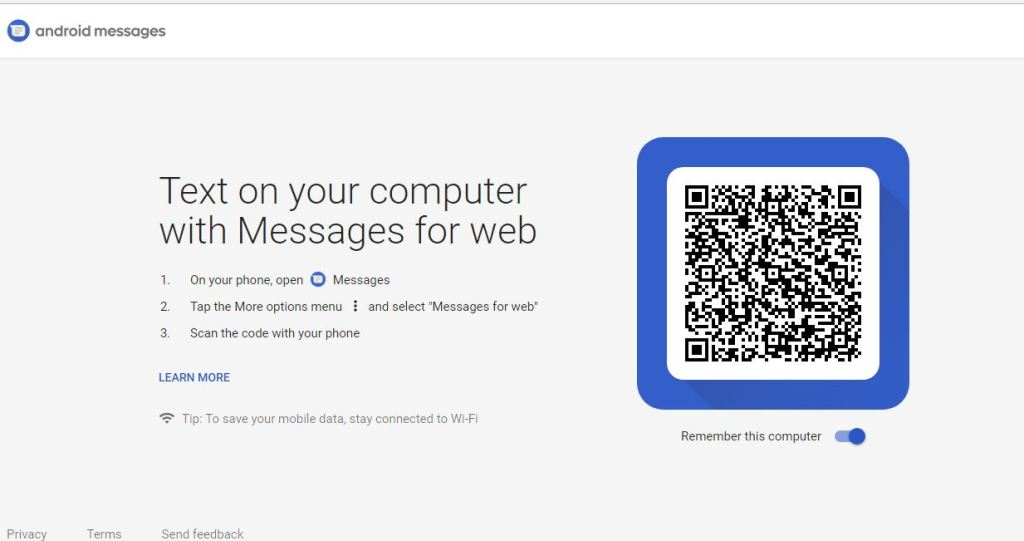 Android Messages on PC