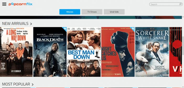 Stream movies for free on Popcornflix