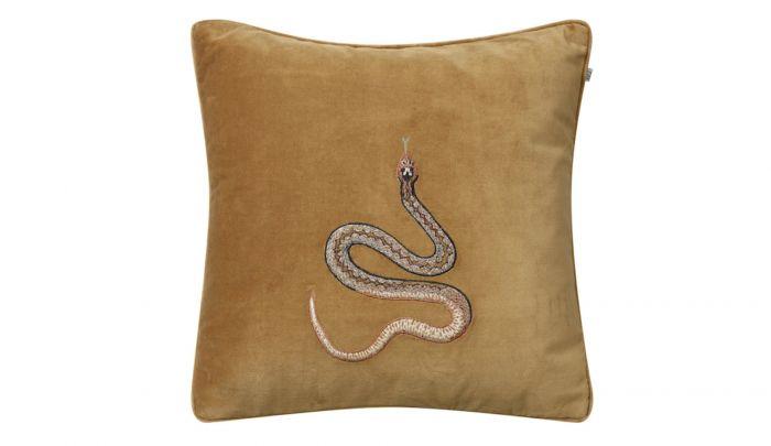 chhatwal jonsson cobra velvet cushion 50 x 50 cm masala yellow