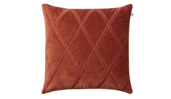 chhatwal jonsson orissa velvet cushion 50 x 50 cm rust