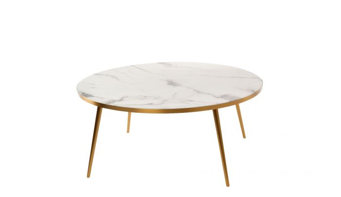pols potten coffee table marble look white
