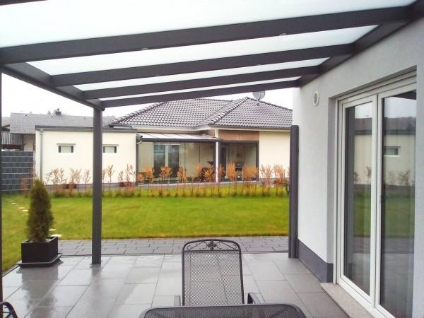 top alu 4 06m x 4 0m terrassenuberdachung mit aluminiumunterbau