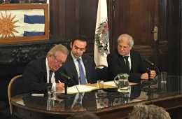 Firma de acuerdo entre Colonia y Buenos Aires
