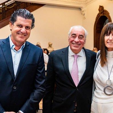 Andrés Orlandini, Rafael Díaz y Andrea Pascual