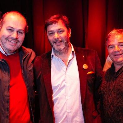Ricardo Núñez, Hernán Díaz y Daniel Polletti