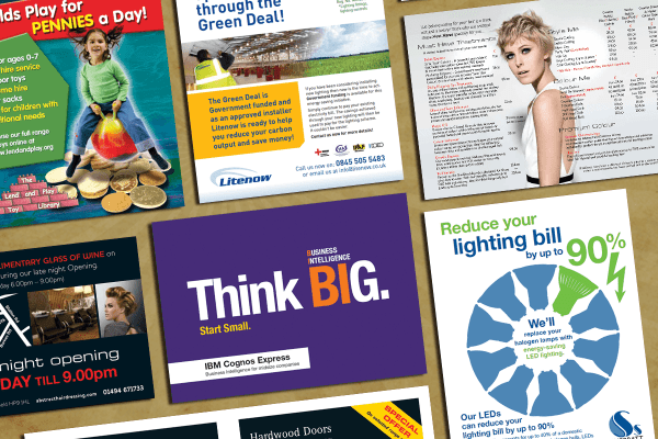 Leaflet Design, Printing And Door-Drops