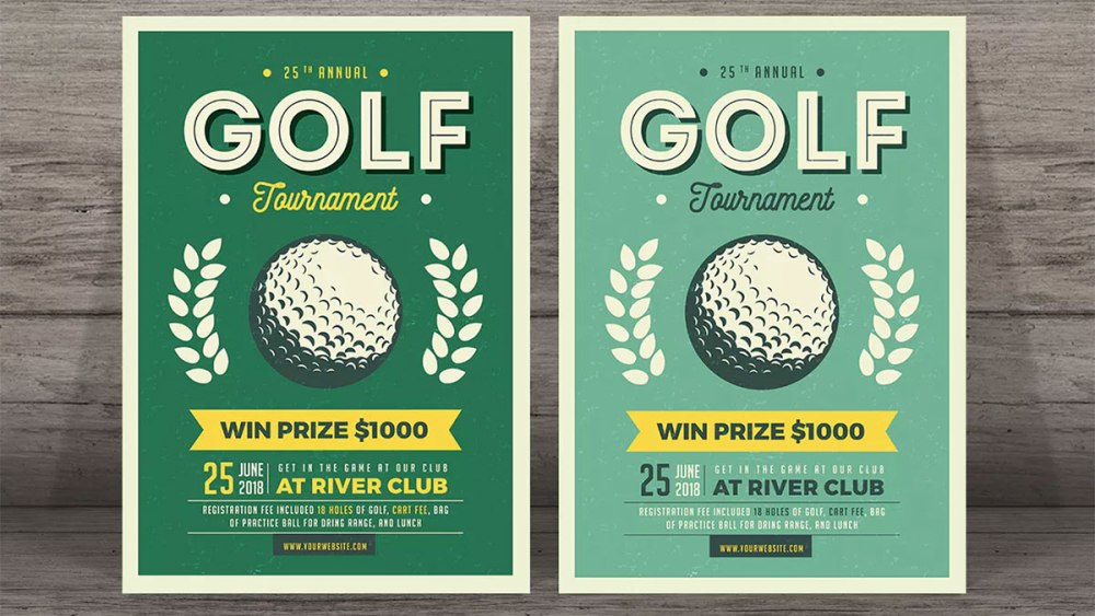 Golf club leaflet distibution
