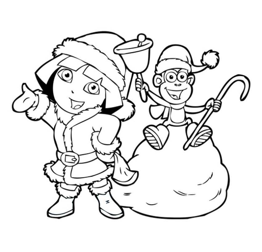 dora coloring pages! backpack diego boots swiper! print