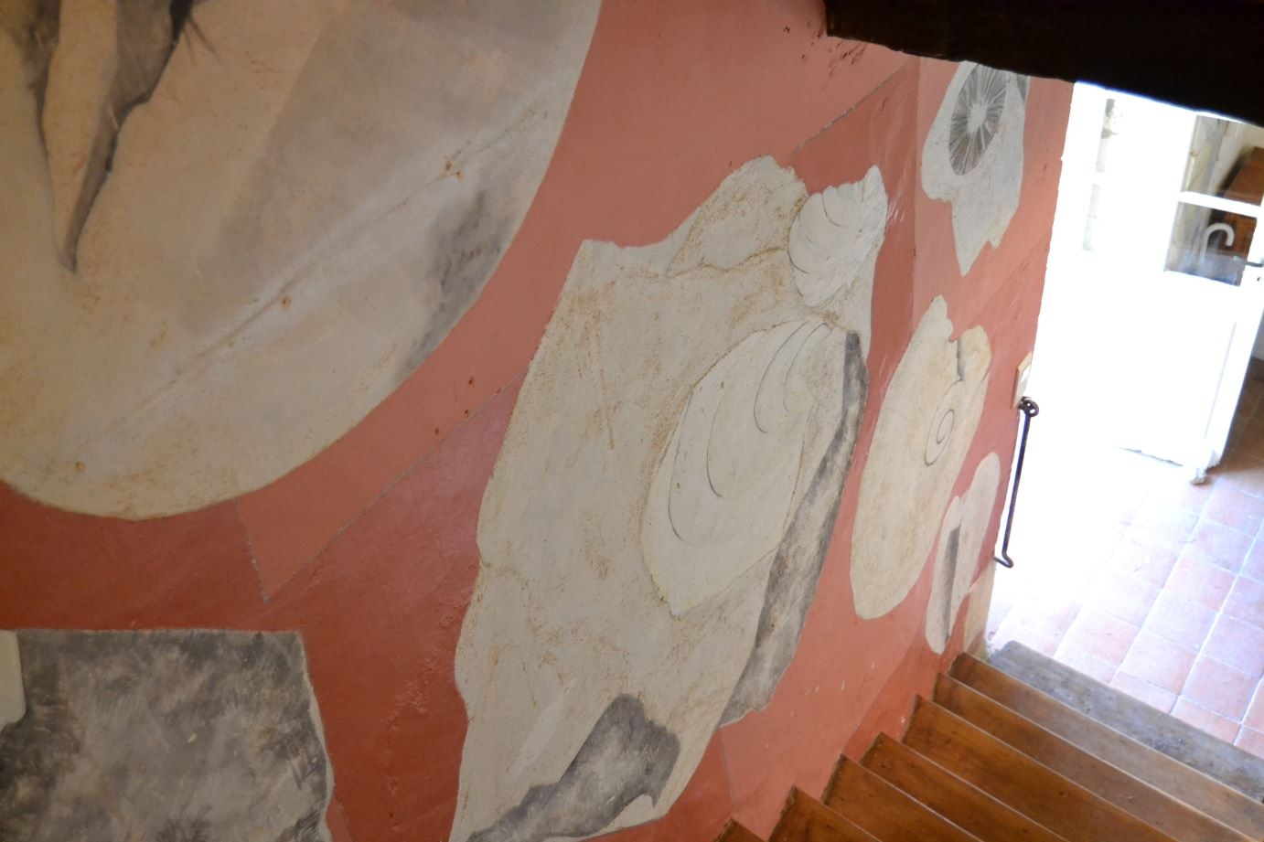 Fossil Designs on Stairs