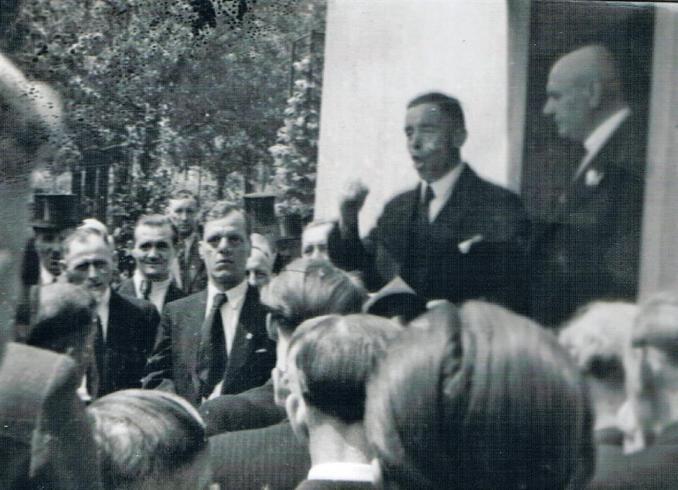 Abholung des MGV-Vorsitzenden 1948 (Foto von Jakob Klug)