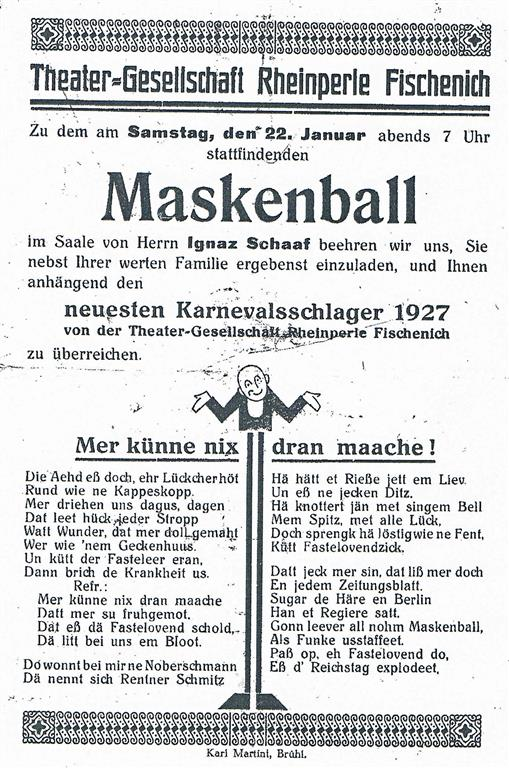 Plakat 1927 (Foto von Anni Hinz)