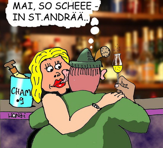 Ein Honzak Cartoon