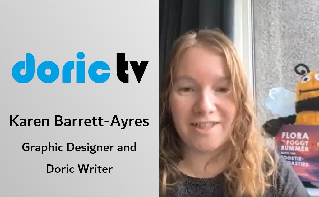 Doric TV – Karen Barrett-Ayres, Graphic Designer and writer