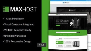 Photo of MaxHost v3.3 – Web Hosting, WHMCS and Corporate Business WordPress Theme with WooCommerce