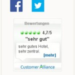 Dorint Hotels & Resorts Gästebewertungen - Widget Customer Alliance