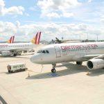 Germanwings Lackierung in alter und neuer Farbgebung.