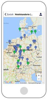Standortkarte in der neuen Dorint App
