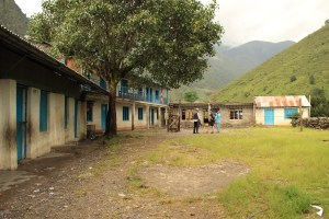 Raithane school with the new building still under construction.