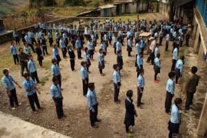 Morning assembly at Raithane School.