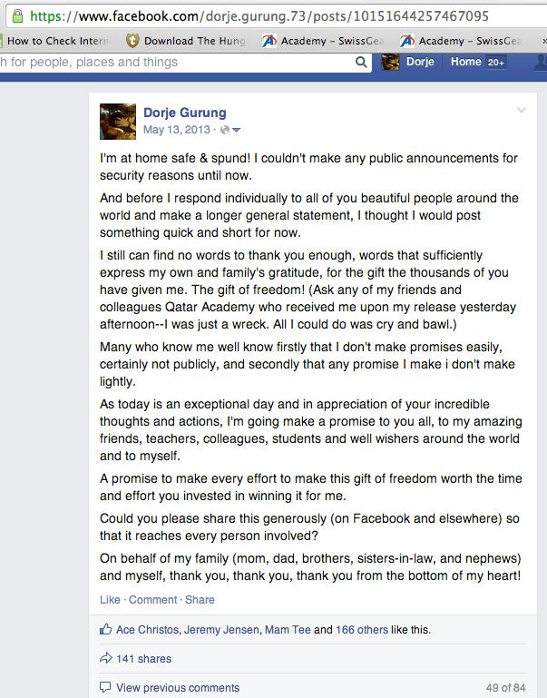 facebook post May 13