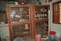 Science resources: All they have in the cupboards is it. The cupboards weren't even in a classroom; they were in a room with some other reference books.