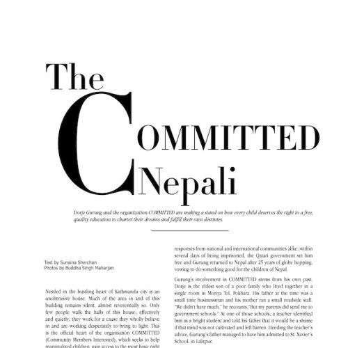 An Interview: The COMMITTED Nepali