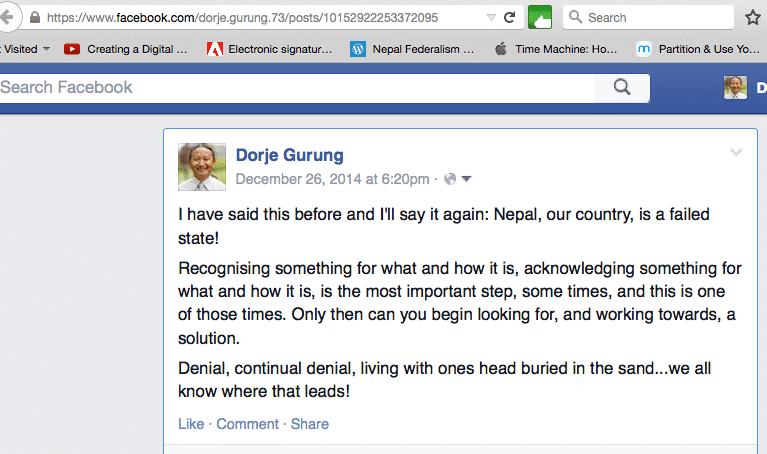 FB post-Nepal a failed state