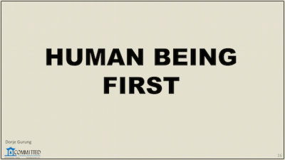 human being first