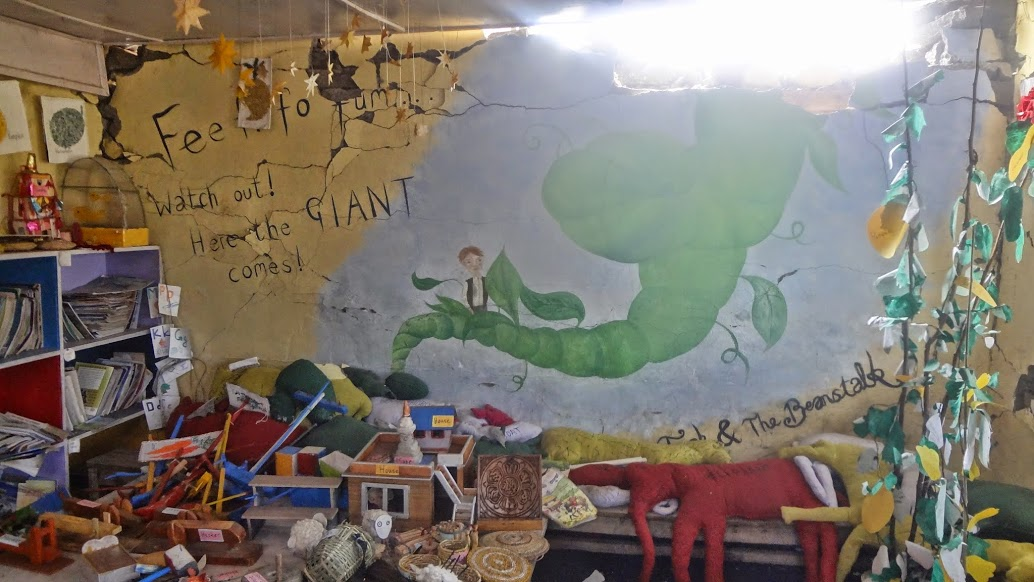 Post Quake - Taluleshwori school library inside