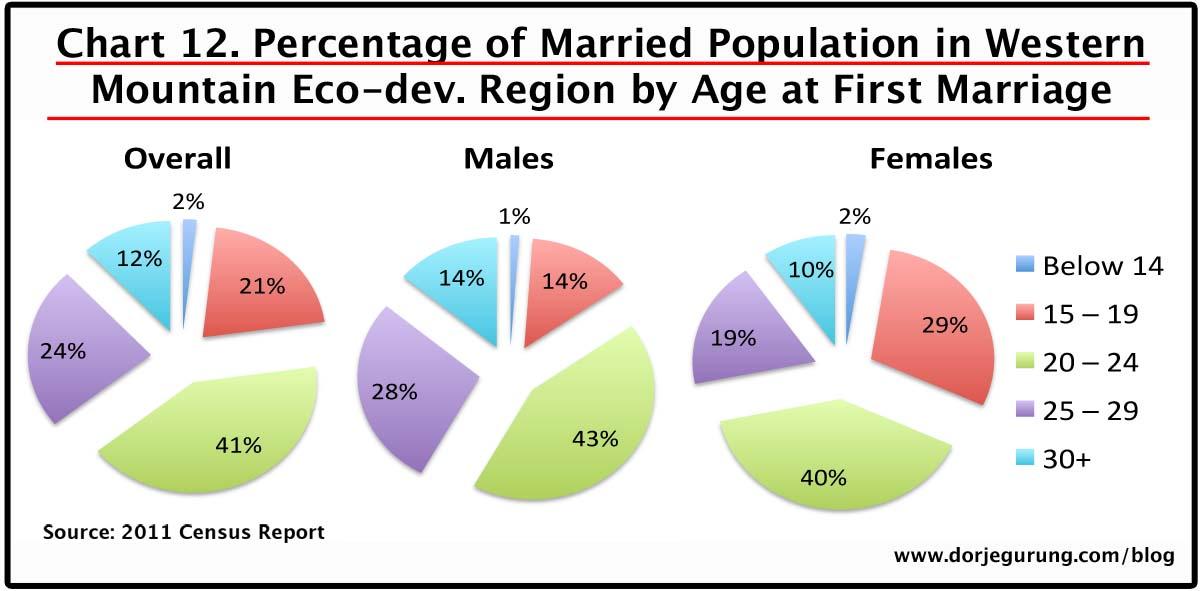 12. marriage age - western mountain eco-dev region population