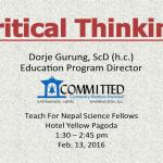 Teach For Nepal: Critical Thinking