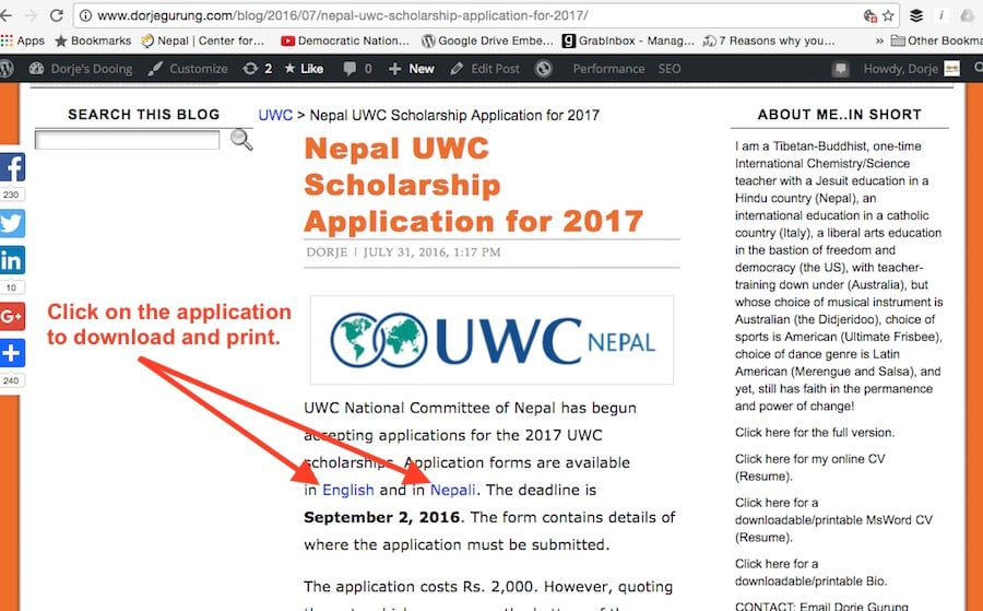 1.2 application forms on blog post