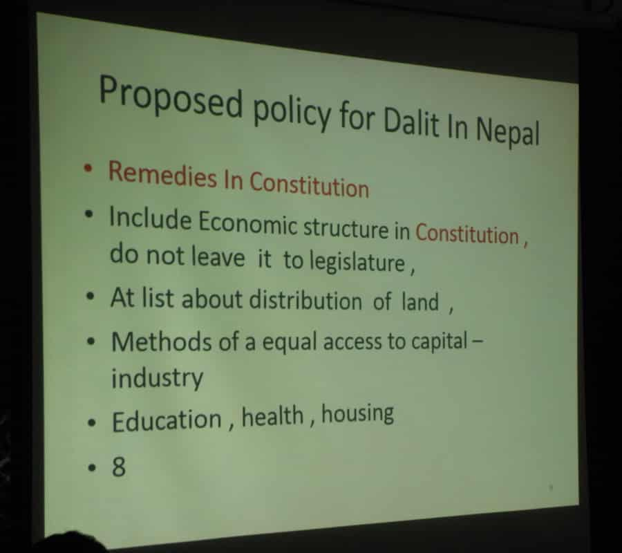 sukdeo presentation proposed policy 4 dalits in NP 319