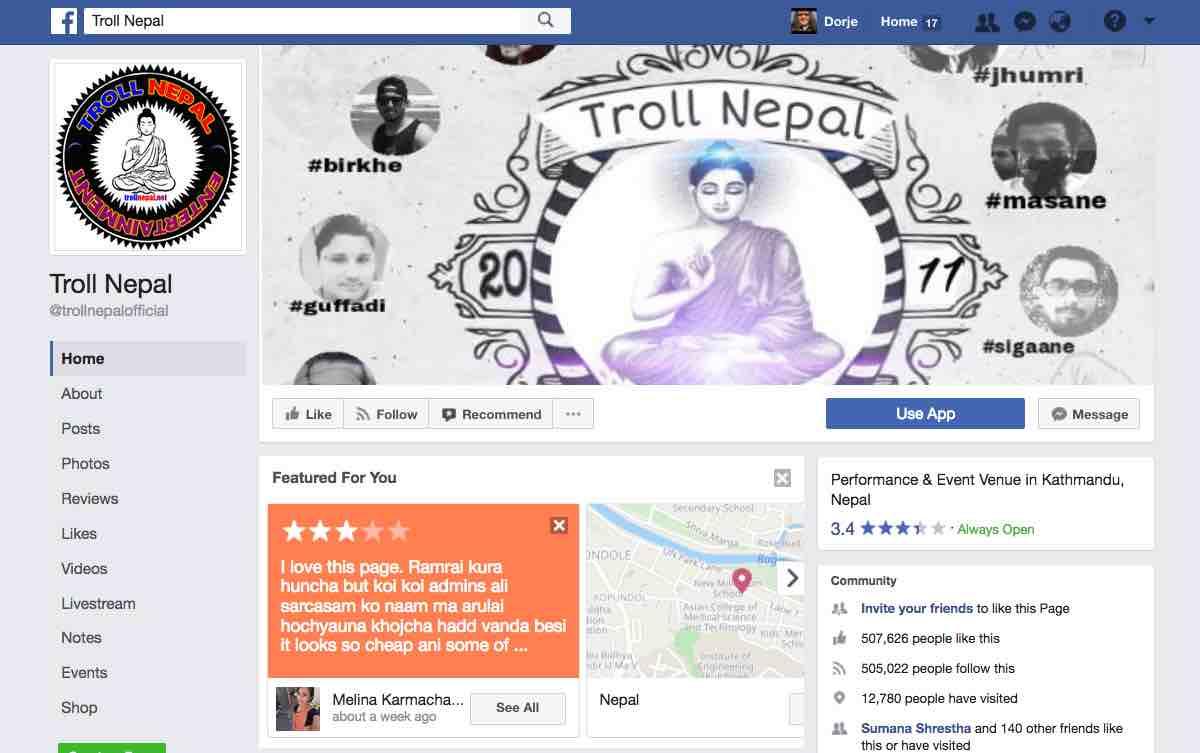 Troll Nepal: Like Name, Like Post - Dorje's Dooing