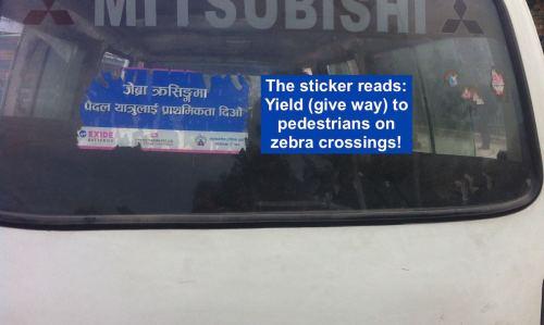 Zebra Crossing…in Kathmandu