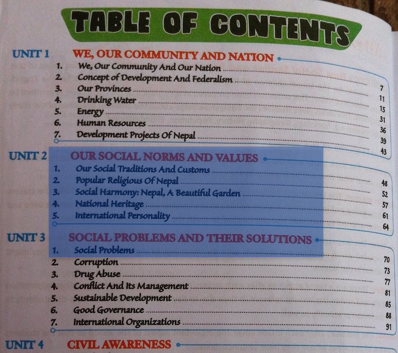 Grade 8 Social Studies Textbook: The Caste System Is a