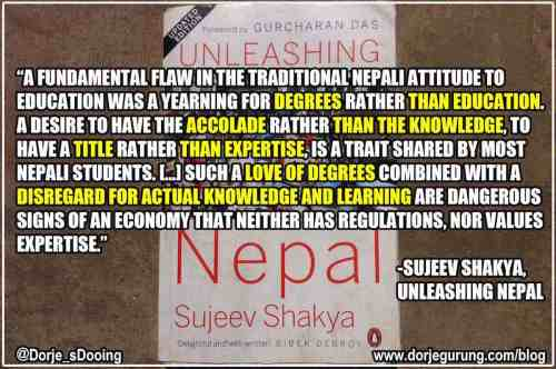Unleashing Nepal: Private Institutions, Foreign Education And Preference for Paper Degrees