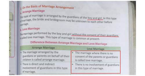 Love Marriage…According to a Grade 9 Textbook