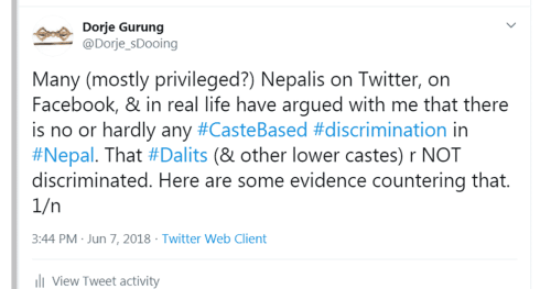 So You Think There is No Caste-based Discrimination in Nepal? Think Again!
